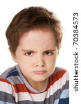 close up portrait of angry... | Shutterstock . vector #70384573