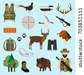 hunting color icons set for web ...   Shutterstock .eps vector #703852111