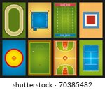 sports grounds | Shutterstock .eps vector #70385482
