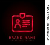 id card red chromium metallic...