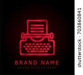 typewriter red chromium...