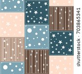 simple seamless pattern with... | Shutterstock .eps vector #703865341