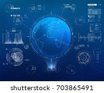 vector hud elements set for... | Shutterstock .eps vector #703865491