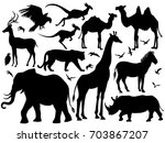 visual drawing silhouette of... | Shutterstock .eps vector #703867207