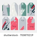 hand drawn creative tags.... | Shutterstock .eps vector #703870219