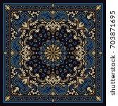 vector ornament paisley bandana ... | Shutterstock .eps vector #703871695