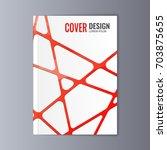 abstract flyer design... | Shutterstock .eps vector #703875655