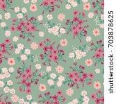 simple cute pattern in small... | Shutterstock .eps vector #703878625