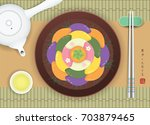 chuseok or hangawi   korean... | Shutterstock .eps vector #703879465