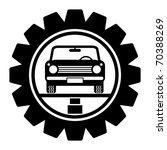 car service symbol  vector... | Shutterstock .eps vector #70388269