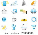 icon set  airport services for... | Shutterstock .eps vector #70388308