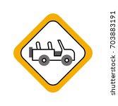 safari vehicle road sign | Shutterstock .eps vector #703883191