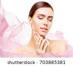 woman beauty makeup  face skin... | Shutterstock . vector #703885381