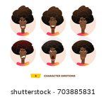 characters avatars emotion in... | Shutterstock .eps vector #703885831