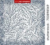 minimal organic line pattern.... | Shutterstock .eps vector #703898569