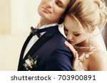 gorgeous bride in sexy wedding... | Shutterstock . vector #703900891