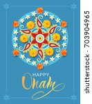 happy onam background with... | Shutterstock .eps vector #703904965