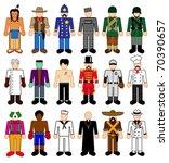 classic character figures   Shutterstock .eps vector #70390657