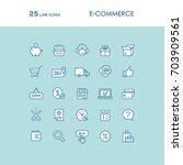 e commerce and online shopping... | Shutterstock .eps vector #703909561