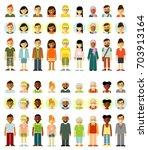people characters standing... | Shutterstock .eps vector #703913164