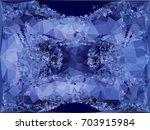 geometric low polygonal... | Shutterstock . vector #703915984