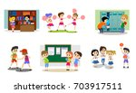 back to school set of... | Shutterstock .eps vector #703917511