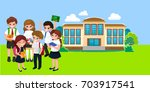 back to school concept for... | Shutterstock .eps vector #703917541