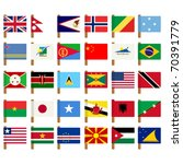 world flag icons set over white ... | Shutterstock .eps vector #70391779
