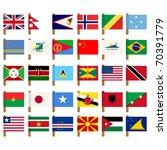 world flag icons set over white ... | Shutterstock .eps vector #70391779