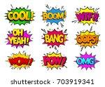 collection comic speech effects.... | Shutterstock .eps vector #703919341