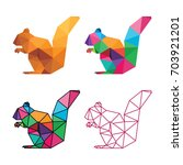 animal low poly logo icon... | Shutterstock .eps vector #703921201