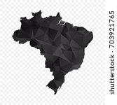 transparent   map of brazil.... | Shutterstock .eps vector #703921765