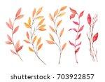 hand drawn watercolor... | Shutterstock . vector #703922857