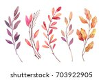 hand drawn watercolor... | Shutterstock . vector #703922905