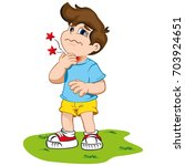 illustration depicts a child... | Shutterstock .eps vector #703924651