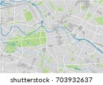 vector city map of berlin with... | Shutterstock .eps vector #703932637