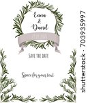 wedding invitation template.... | Shutterstock .eps vector #703935997