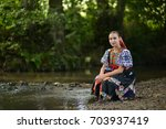 slovakian folklore. traditional ... | Shutterstock . vector #703937419