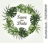 wedding invitation design with... | Shutterstock .eps vector #703938049