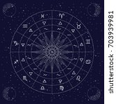 vector illustration of zodiac... | Shutterstock .eps vector #703939981