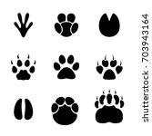 footprint animals set. | Shutterstock .eps vector #703943164