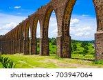aqueduct of padre tembleque...   Shutterstock . vector #703947064