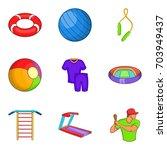 notation icons set. cartoon set ... | Shutterstock .eps vector #703949437