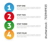 one two three four steps... | Shutterstock .eps vector #703949935