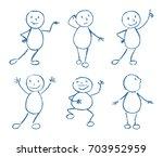 set of wax crayon like kid s... | Shutterstock .eps vector #703952959