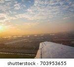 view of newark bay  port newark ... | Shutterstock . vector #703953655