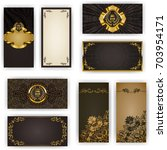 set of elegant template for vip ... | Shutterstock . vector #703954171