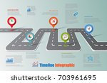 business road map timeline... | Shutterstock .eps vector #703961695
