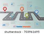business road map timeline... | Shutterstock .eps vector #703961695