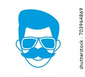 man face character people work... | Shutterstock .eps vector #703964869